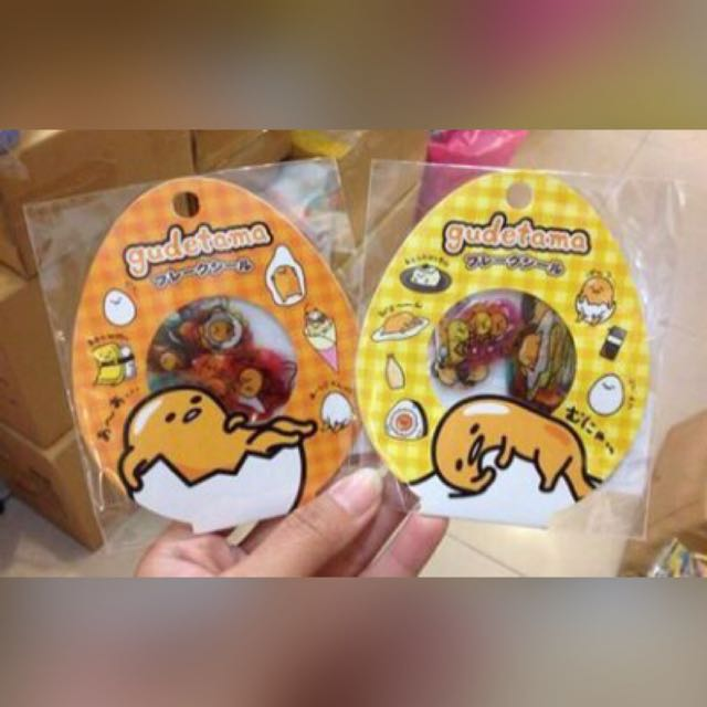 三麗鷗 蛋黃哥 可愛透明貼紙