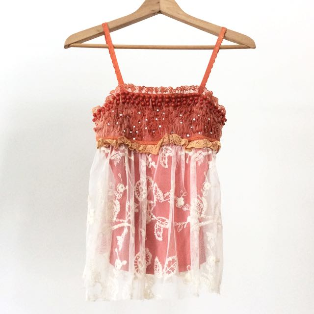 Beaded Lacey Top