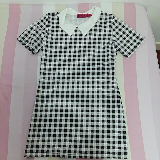 Boohoo Checkered Dress