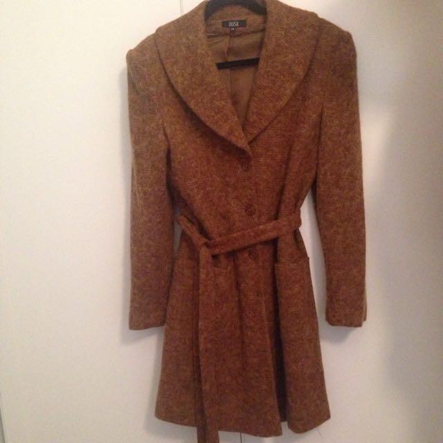 Brown Coat Australian Made Sz 14