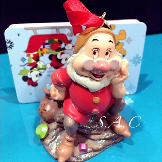 日本Disney Store 七矮人 公仔 聖誕吊飾