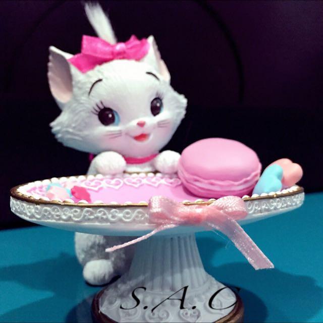 日本Disney Store 瑪莉貓 擺設 飾品架 公仔