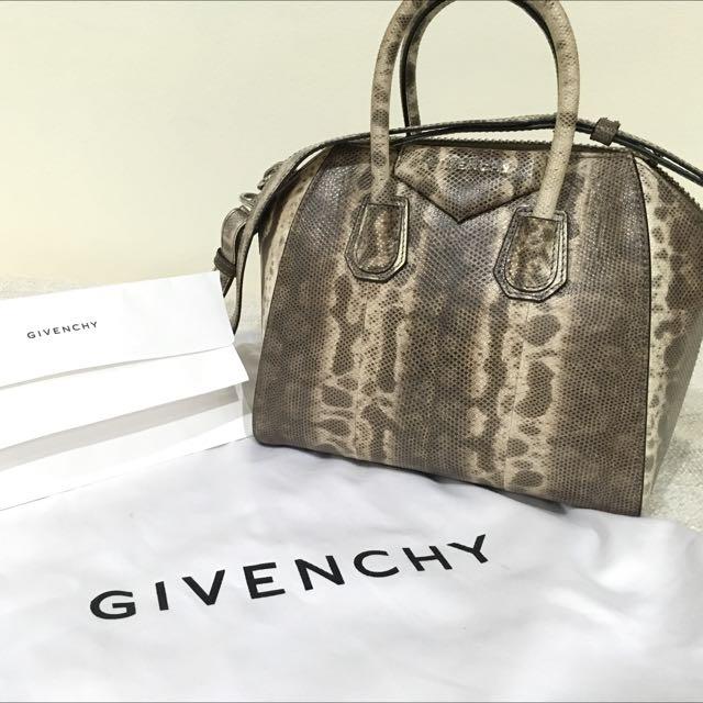 1696bf9267 CNY SALE  Givenchy Mini Antigona In Snakeskin