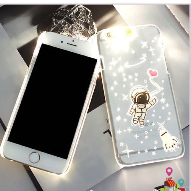 iPhone 6+/6s+ plus 太空人 來電發光 手機殼