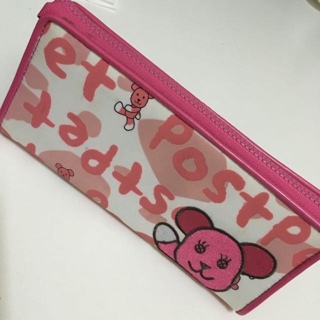 新》momo熊筆袋/化妝袋
