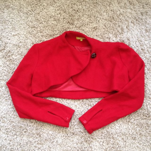 ON HOLD Red Crop/Bolero Jacket