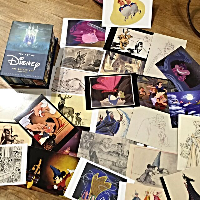 The art of disney 全彩明信片