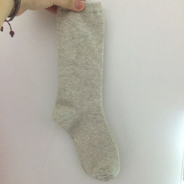 UNIQLO 三雙 拆賣 襪子 米灰色
