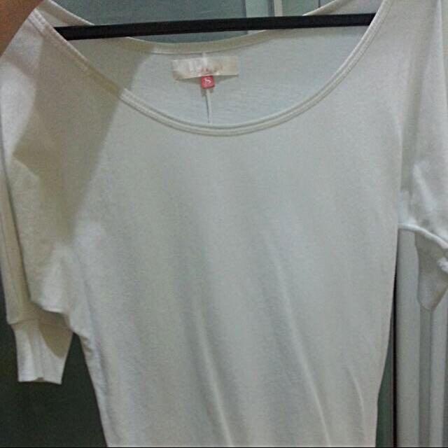 White Bershka Top