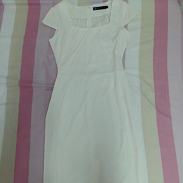 (reserved) White Midi Bodycon Dress
