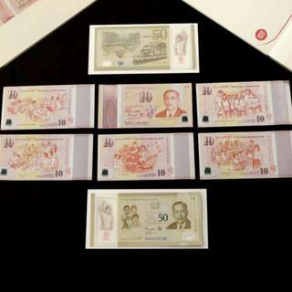 2 Sets Of New Singapore Notes