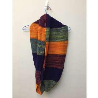 色彩毛線圍巾