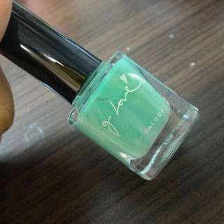 g love 086 湖綠 粉綠 指甲油