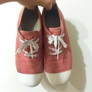 無印良品 粉色布鞋