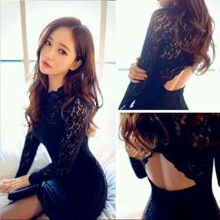 🎁美美性感蕾絲韓版貼身洋裝🎁