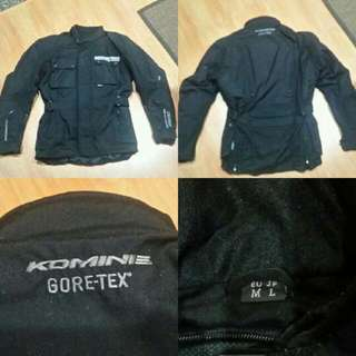 Waterproof Kominex protective pads riding jacket.