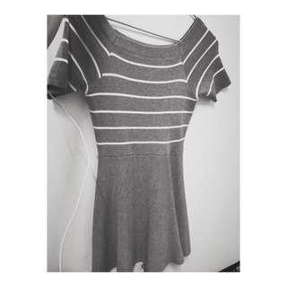 灰色條紋裙