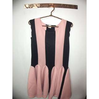 Pink & Black Stripe Dress