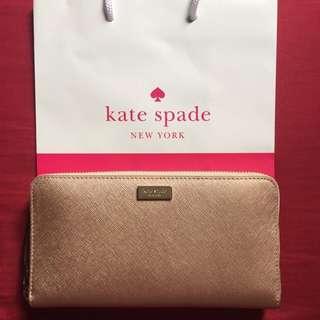 (RESERVED) Kate Spade Neda Newbury Lane Rosegold Long Wallet BNWT