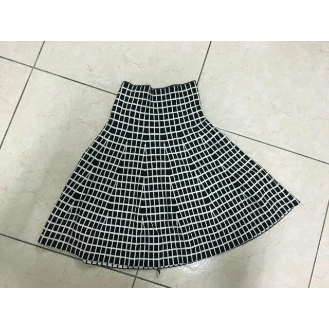 幾何高腰裙