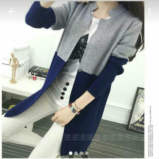 雙色針織外套  #外套特賣