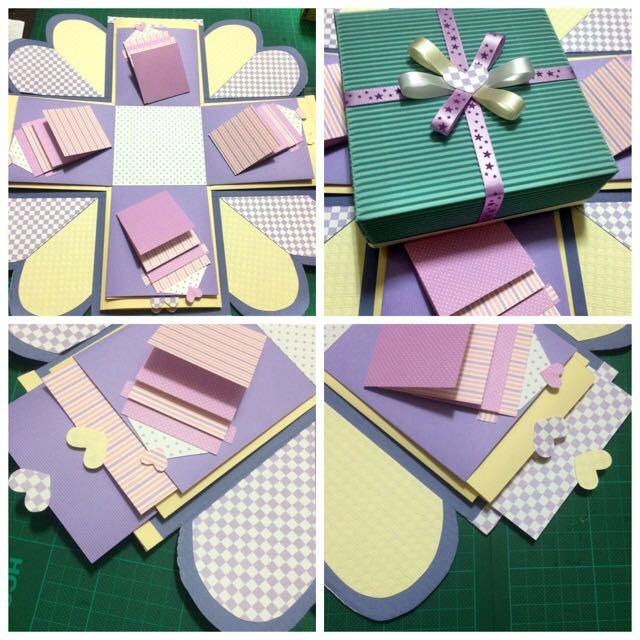 手工禮物盒(粉紫配)