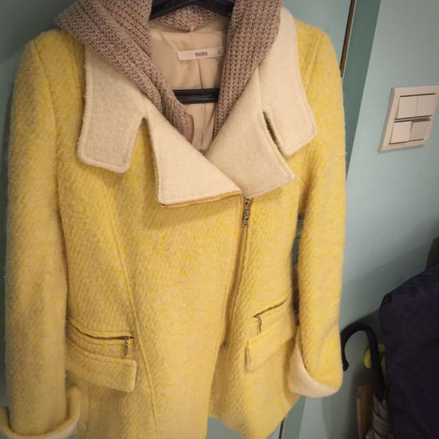 超便宜(二手)韓貨-超保暖合身長版外套(帽子一體式可拆卸)