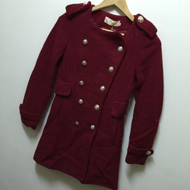 🌺全新冬裝出清賠售🌺韓 毛呢厚排扣外套