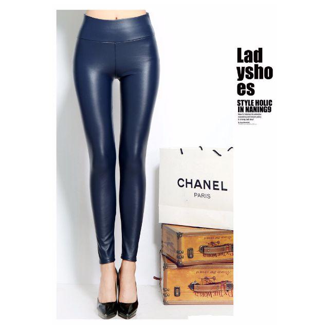 高腰顯瘦韓版皮褲 超彈力  小羊皮質感 絕不裂紋