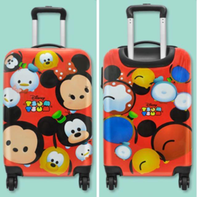全家集點加價購 可愛在一起 迪士尼 TSUM TSUM 潮流行李箱 20吋