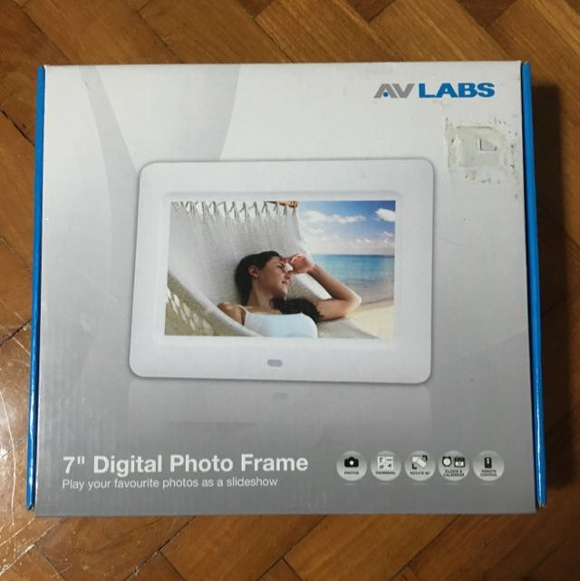 AVLABS 7 Digital Photo Frame White Photography On Carousell