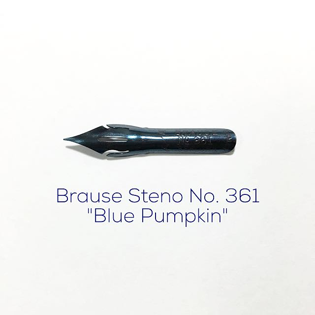 Brause Steno No 361 Nib (Blue Pumpkin)