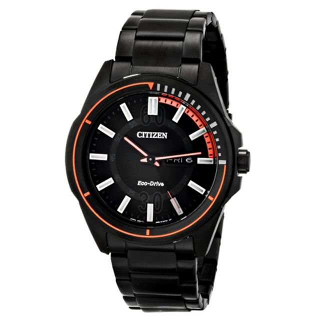 b2ac7e735f210 Citizen Men s AW53 Drive from Citizen HTM Analog Display Japanese Quartz  Black Stainless Steel Watch (5 Year Warranty)