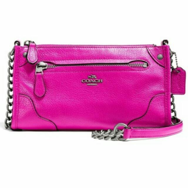 Coach Mickie Grain Leather Crossbody Chain Sling Bag (BRAND NEW ... 141d15f26b1c8