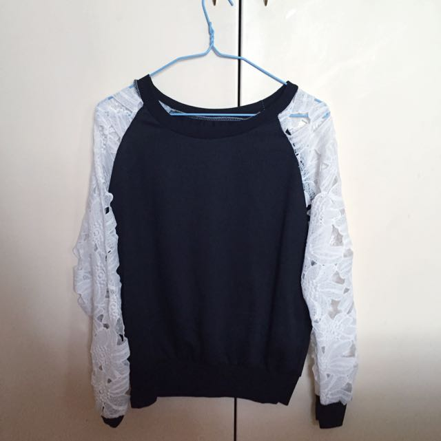 Flower Sleeved Pullover