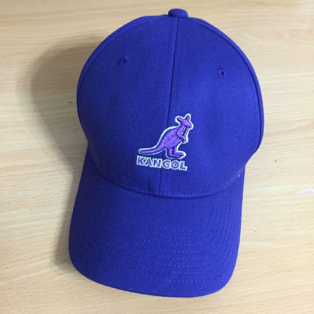 KANGOL 紫色素面袋鼠棒球帽