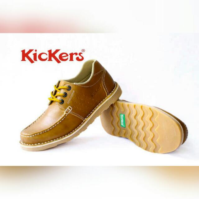 KICKERS LOW BOOTS || TAN