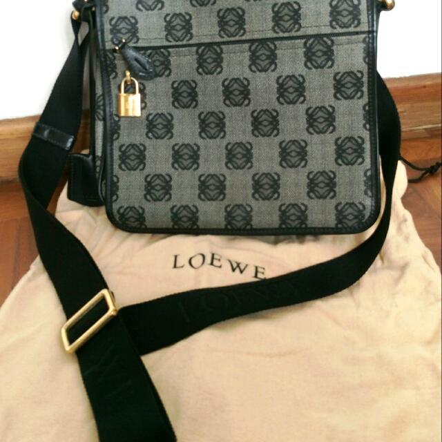 Loewe Monogrammed Messenger Bag