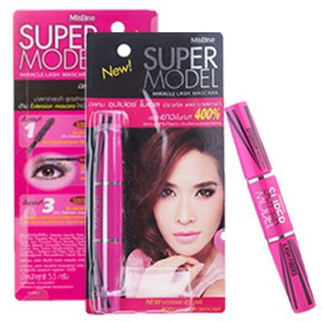 泰國親自帶回//Mistine-SUPER MODEL 4D二合一纖長濃密睫毛膏💎💎