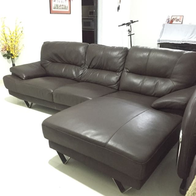 Enjoyable Reduced To Clear Novena Brand L Shaped Half Leather Sofa Pdpeps Interior Chair Design Pdpepsorg