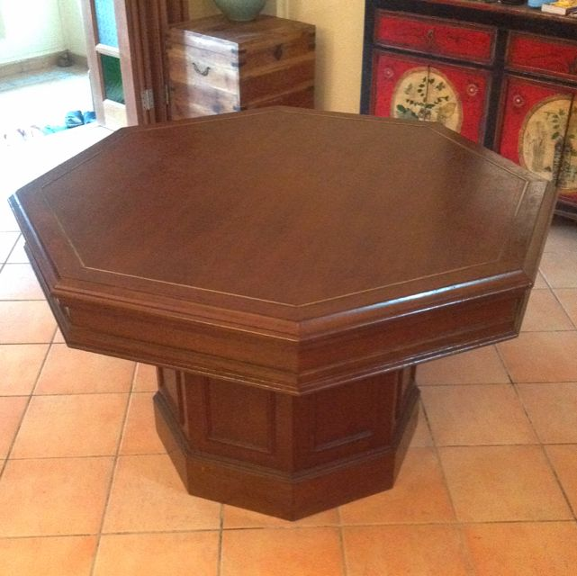 Octagon Shaped Dining Teak Table Rare And Auspicious Furniture - Octagon shaped dining table