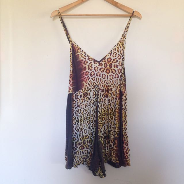 One Teaspoon Leopard Playsuit