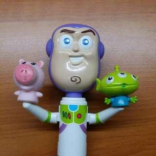 全家 巴斯雙色筆(藍,黑) 非扭蛋 轉蛋 玩具總動員