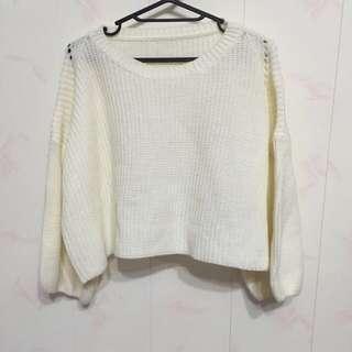韓版 針織短版上衣