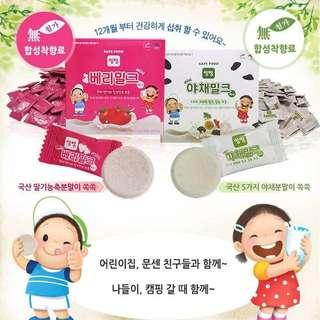 韓國 首爾牛乳- 兒童營養牛奶片 (90片/盒)