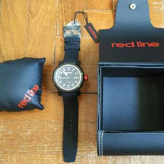 """Red Line Men's RL-50049-BB-01 """"Torque"""" Stainless Steel Watch with Black Silicone Band"""