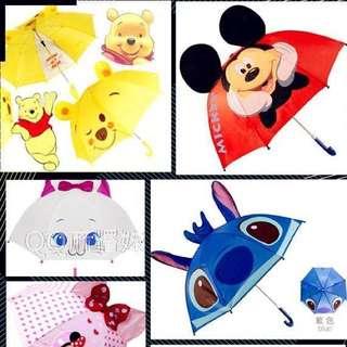 兒童卡通雨傘