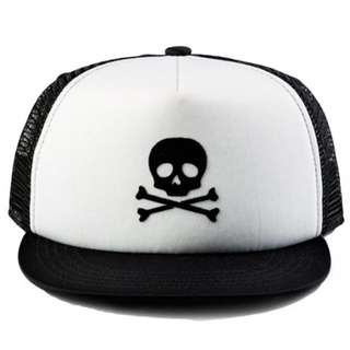 RICKS CAP / HAT / TOPI TRUCKER CUSTOME DEUS EX MACHINA SKULL 0.9 /BLACK