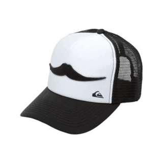 RICKS CAP / HAT / TOPI TRUCKER CUSTOME RIPCURL STAVIE MUSTACHE 1.3 /BLACK N WHITE