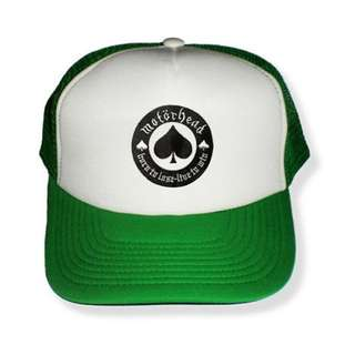 RICKS CAP / HAT / TOPI TRUCKER CUSTOME MOTOR HEAD 1.6 / GREEN N WHITE